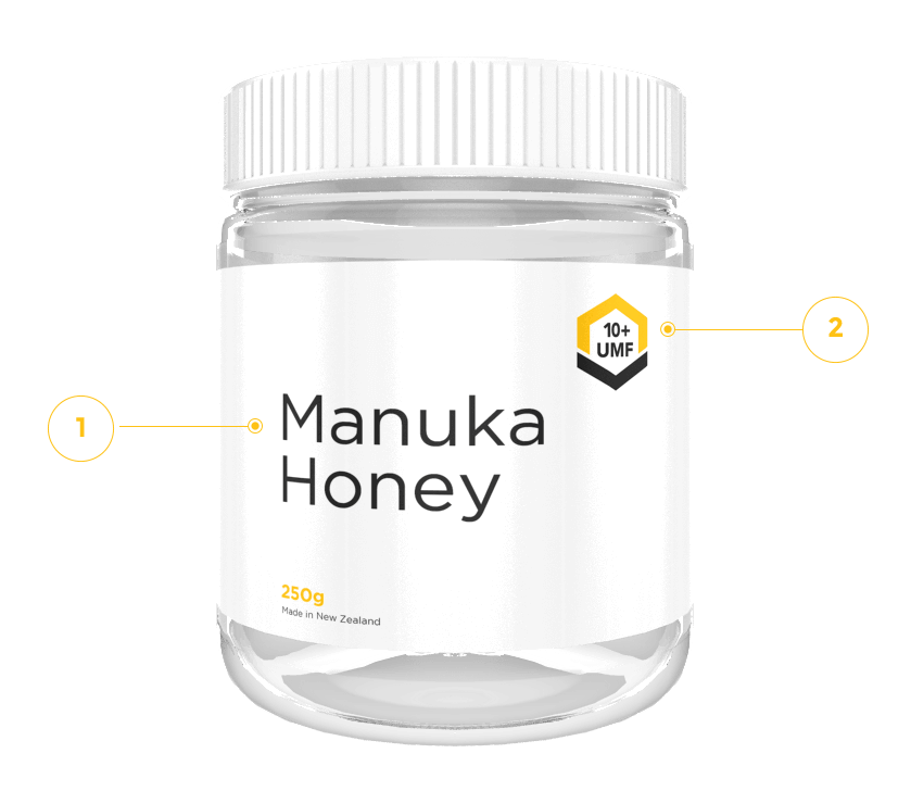 UMF Manuka Honey label